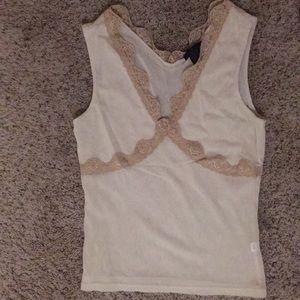 Beautiful limited semi sheer sleeveless top